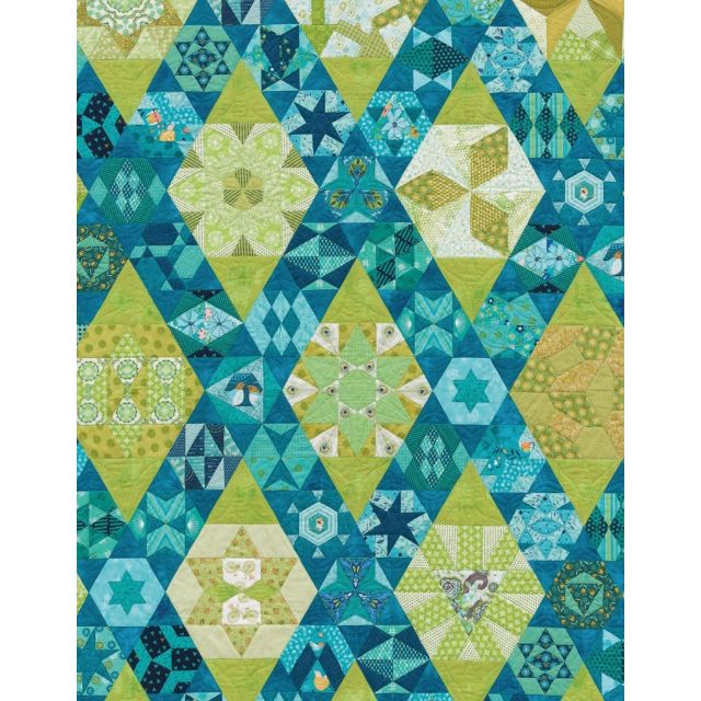 The New Hexagon 2 By Katja Marek Complete Paper Piece Pack by Martingale & Company Modern Quilts - OzQuilts