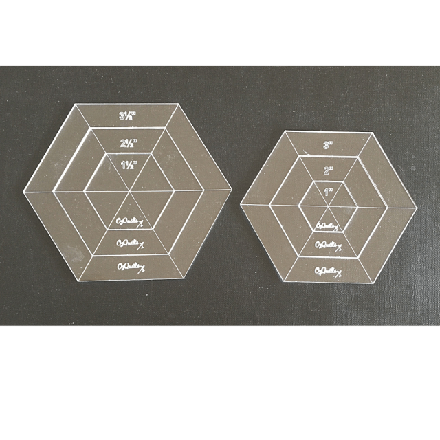 OzQuilts Framed Quilt-As-You-Go Hexagons Set by OzQuilts - OzQuilts Templates