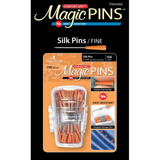 Magic Pins Fine Silk Pins (100) by Taylor Seville - Silk Pins