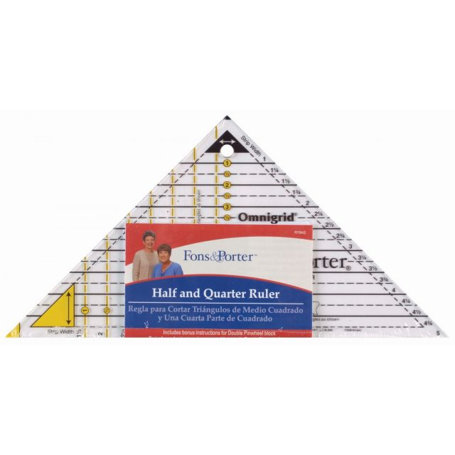 Fons & Porter Half and Quarter Ruler by Fons & Porter  Quilt Blocks - OzQuilts