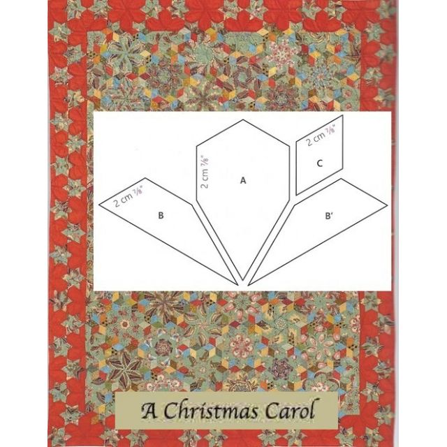 A Christmas Carol Halo Template Set by OzQuilts - Millefiori Book 4 Templates