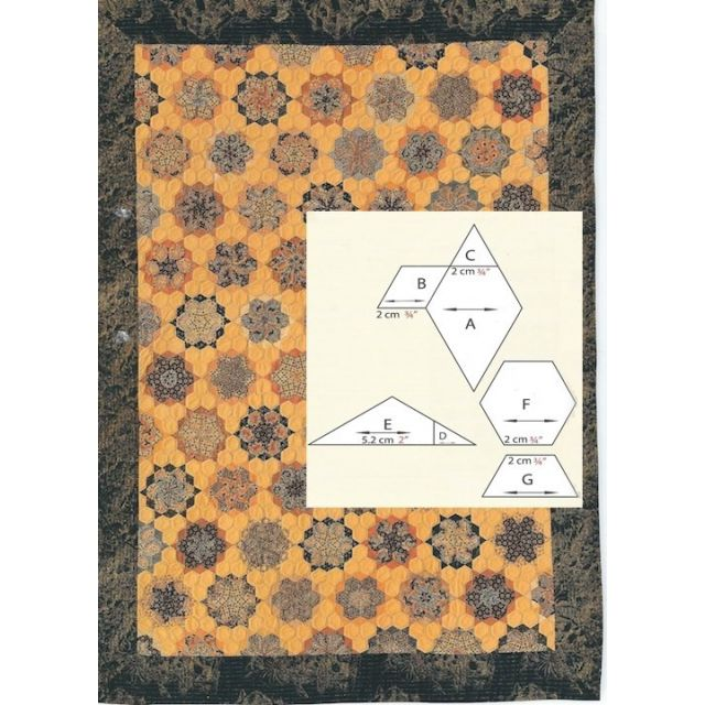 Creme Brulee Halo Template Set by OzQuilts - Millefiori Book 2 Templates