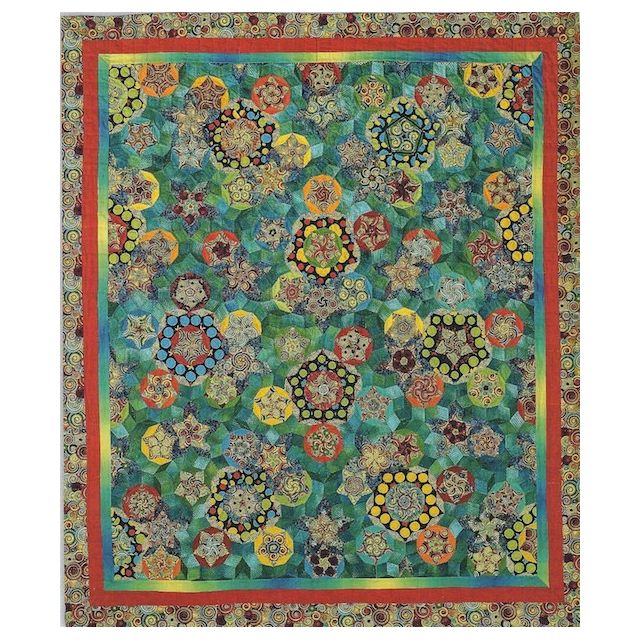 Jeu De Boules Halo Patchwork Template Set from Millefiori Quilts 4 by Willyne Hammerstein by OzQuilts Millefiori Book 4 & Templates - OzQuilts