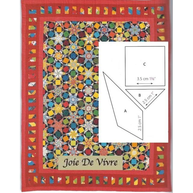 Joie De Vivre Halo Patchwork Template Set from Millefiori Quilts 4 by Willyne Hammerstein by OzQuilts Millefiori Book 4 & Templates - OzQuilts