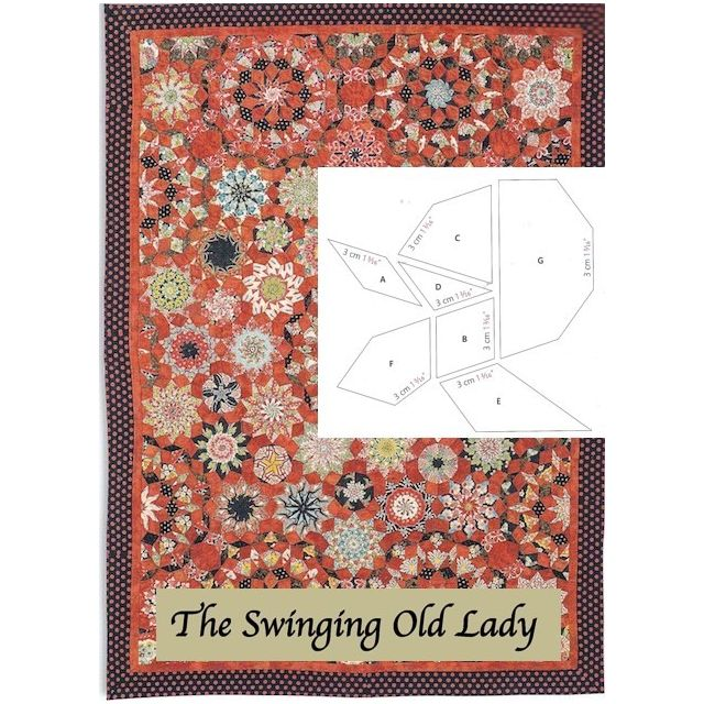 The Swinging Old Lady Halo Patchwork Template Set from Millefiori Quilts 4 by Willyne Hammerstein by OzQuilts Millefiori Book 4 & Templates - OzQuilts