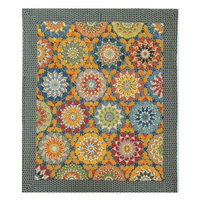 You Are My Sunshine Halo Patchwork Template Set from Millefiori Quilts 4 by Willyne Hammerstein by OzQuilts Millefiori Book 4 & Templates - OzQuilts