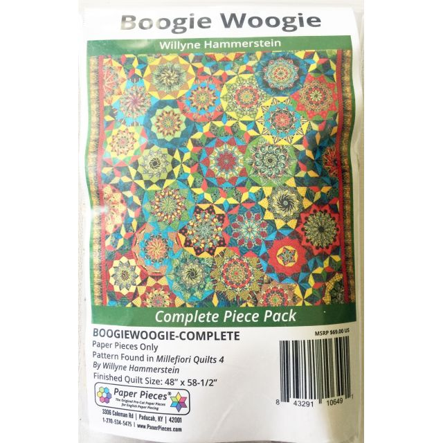 Boogie Woogie By Willyne Hammerstein of Millefiori Quilts Complete Paper Piecing Pack by Paper Pieces - Paper Pieces Kits & Templates