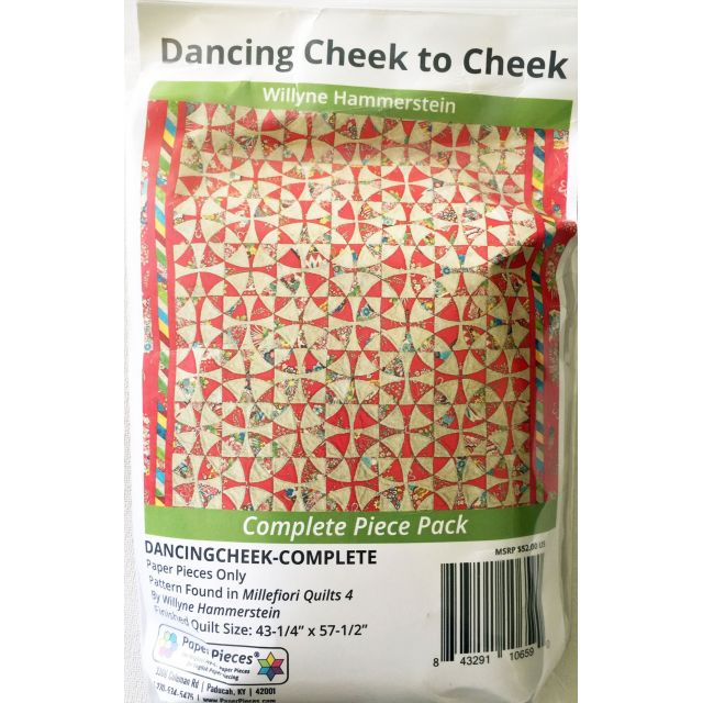 Dancing Cheek to Cheek By Willyne Hammerstein of Millefiori Quilts Complete Paper Piecing Pack by Paper Pieces Paper Pieces Kits & Templates - OzQuilts