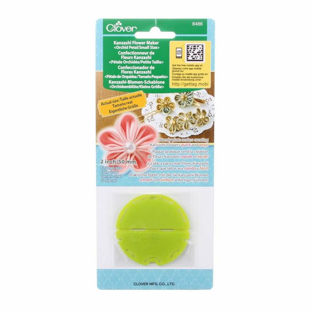 Clover Kanzashi Flower Maker, Small Orchid Petal (50mm) by Clover Kanzashi Flower Makers - OzQuilts