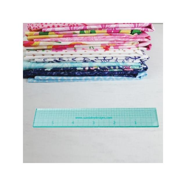 """Sue Daley 6"""" Ruler by Patchwork with BusyFingers - Sue Daley EPP Notions"""