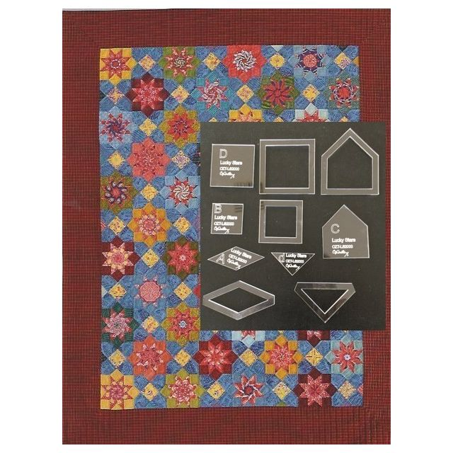 Lucky Stars Template Set from Millefiori Quilts 3- Halo Set in Original Size by OzQuilts - Millefiori Book 3