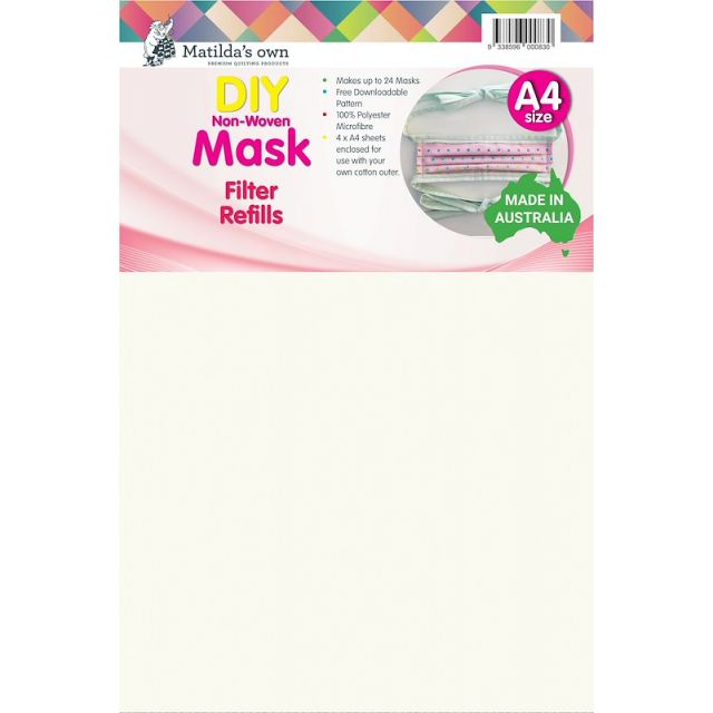 Matilda's Own Mask Refills - 100% Polyester by Matilda's Own Pre-Cut Batts - OzQuilts
