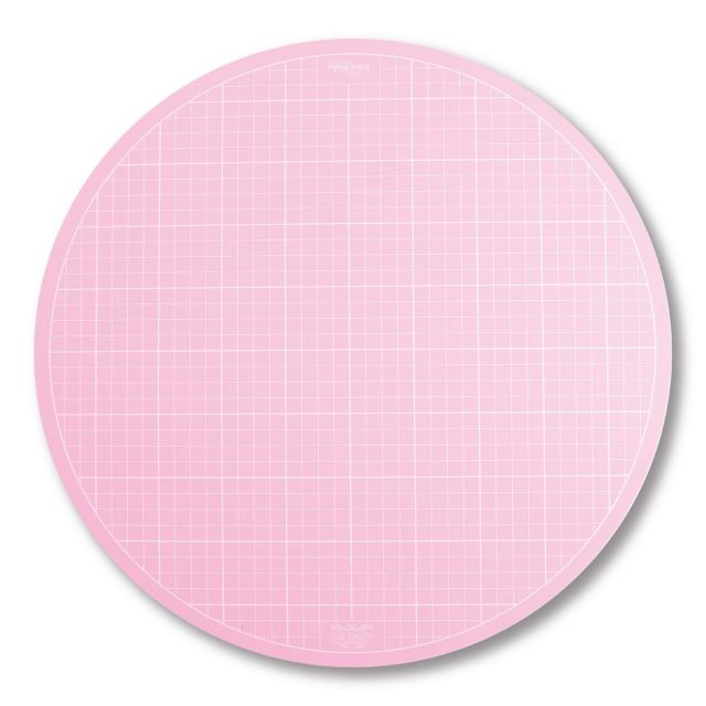 """Sue Daley Large 16"""" Pink Rotating Cutting Mat by Patchwork with BusyFingers Cutting Mats - OzQuilts"""