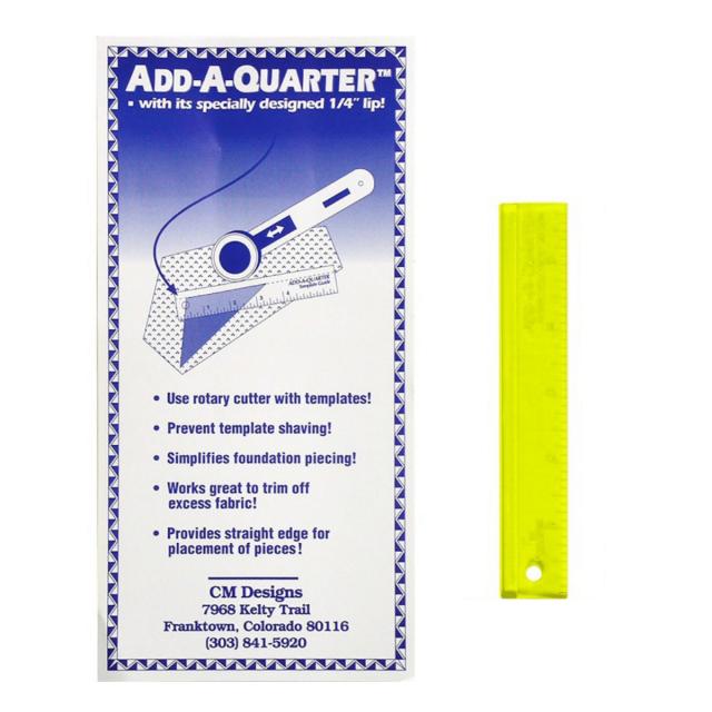 "Add a Quarter Ruler 6"" Yellow by CM Designs - Add A Quarter Rulers"