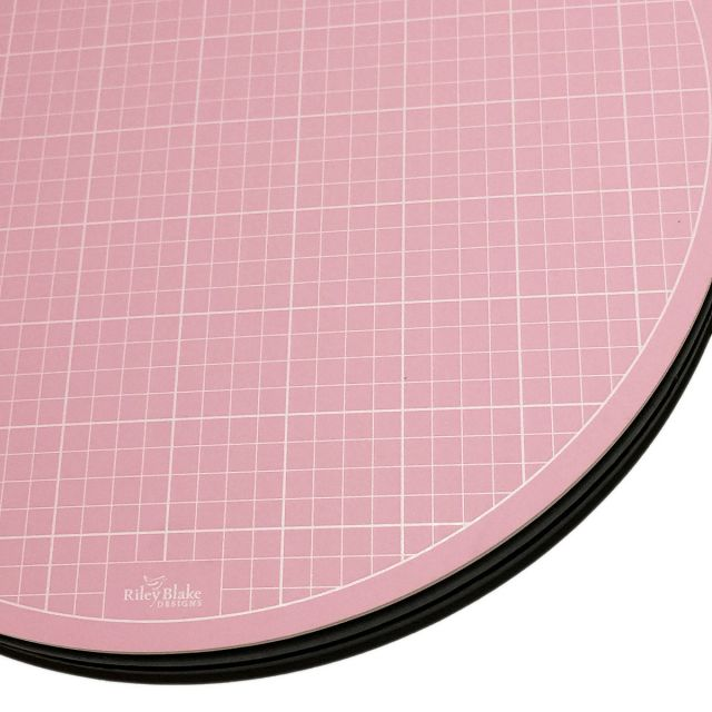 """Sue Daley 10"""" Pink Rotating Cutting Mat by Patchwork with BusyFingers - Cutting Mats"""