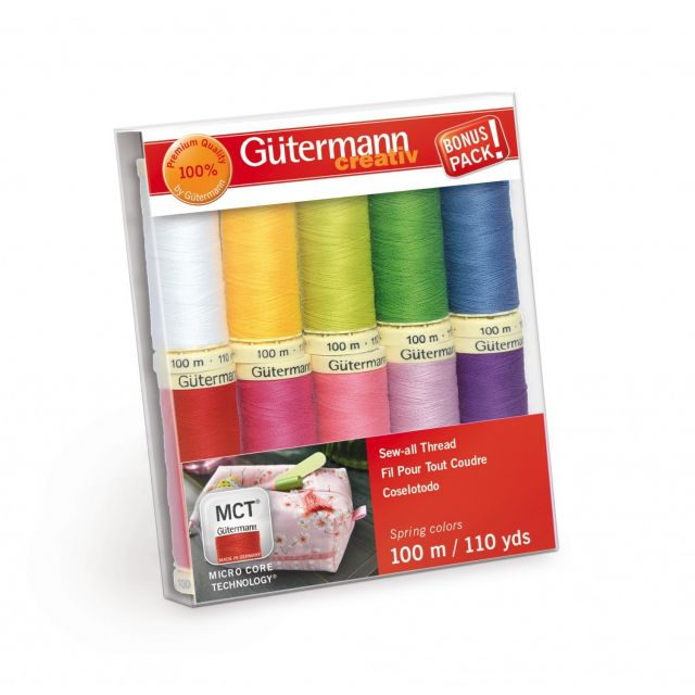 Gutermann Sew-all Thread 10 spools 10 Colours - Spring Colours by Gutermann - Gutermann Thread