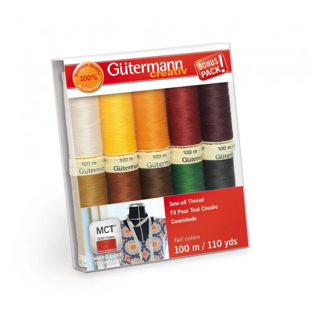Gutermann Sew-all Thread 10 spools 10 Colours - Autumn Colours by Gutermann - Gutermann Thread