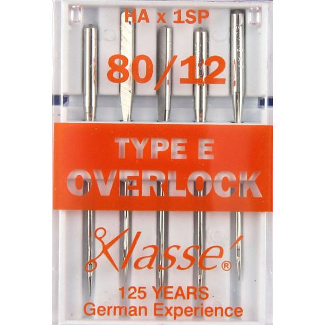 Klasse Overlocker Needles Type E Size 80/12 by Klasse Sewing Machines Needles - OzQuilts