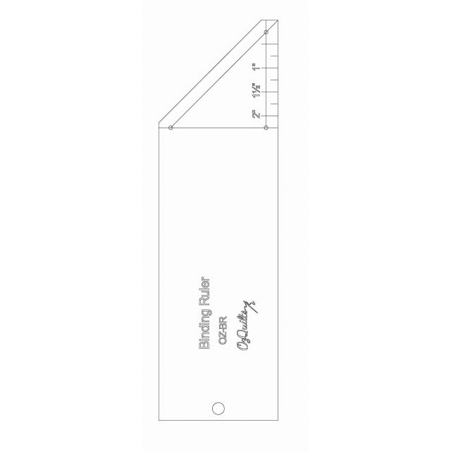 OzQuilts Binding Ruler by OzQuilts Bias, Binding, Mitering, Piping Rulers - OzQuilts
