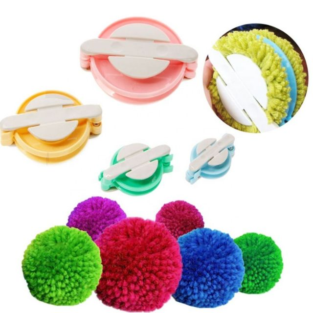Pom Pom Makers , Set of 4 sizes, 38, 48, 68 & 88mm by OzQuilts Pom Pom Makers - OzQuilts