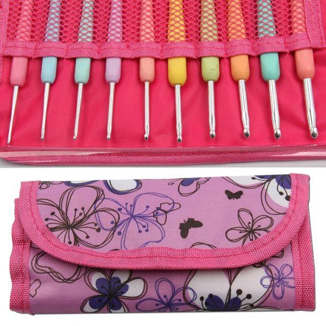 Crochet Hook Set of 10 Hooks in a Storage Case by OzQuilts - Great Gift Ideas