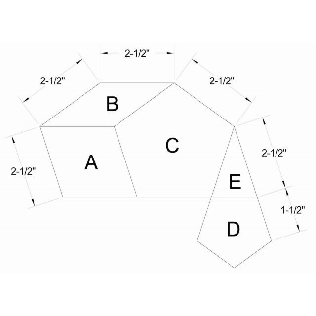 """La Passacaglia Template Set - 2½"""" Size by  - Millefiori Book 1 Templates"""