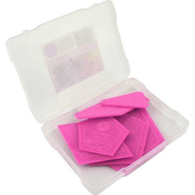 "Tula Nova Acrylic Fabric Cutting Templates (7 Piece Set) 3/8"" seam allowance by Tula Pink - Paper Pieces Kits & Templates"
