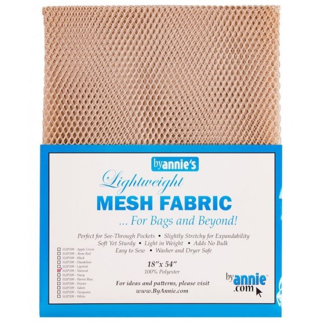 """Lightweight Mesh Fabric By Annie  18"""" x 54"""" Natural by ByAnnie By Annies Fabric Mesh, Vinyl, Strapping - OzQuilts"""