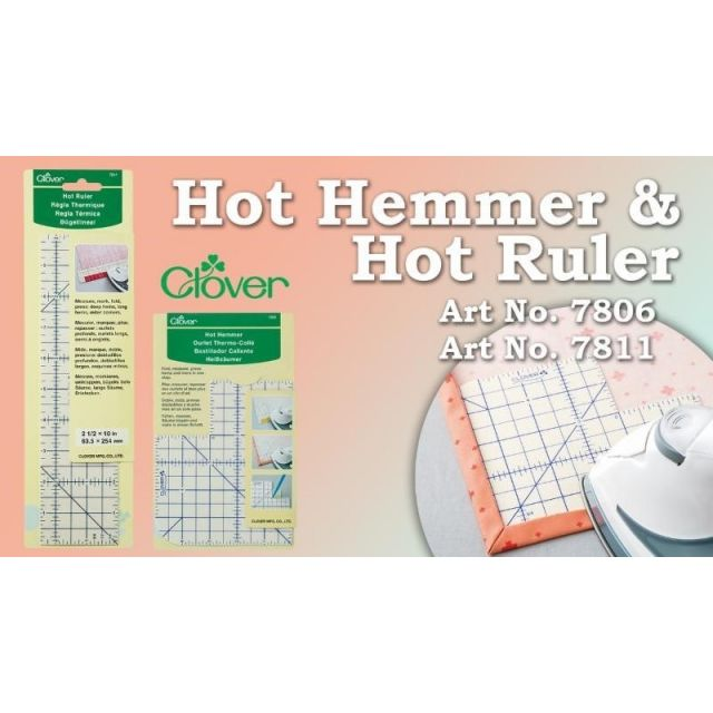 Clover Hot Hemmer -Long -Imperial Measurements by  Irons & Pressing  - OzQuilts