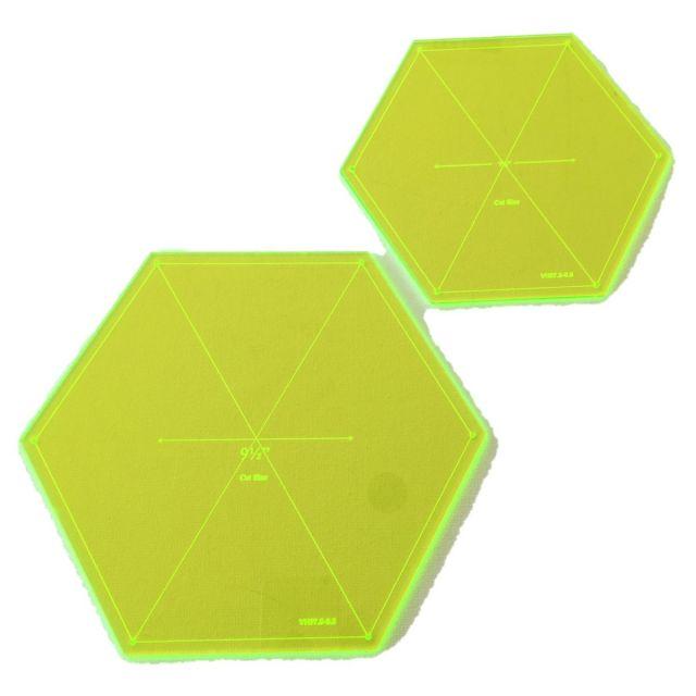 """Matildas Own 7.5"""" & 9.5"""" Hexagons Template Set by Matilda's Own Quilt Blocks - OzQuilts"""