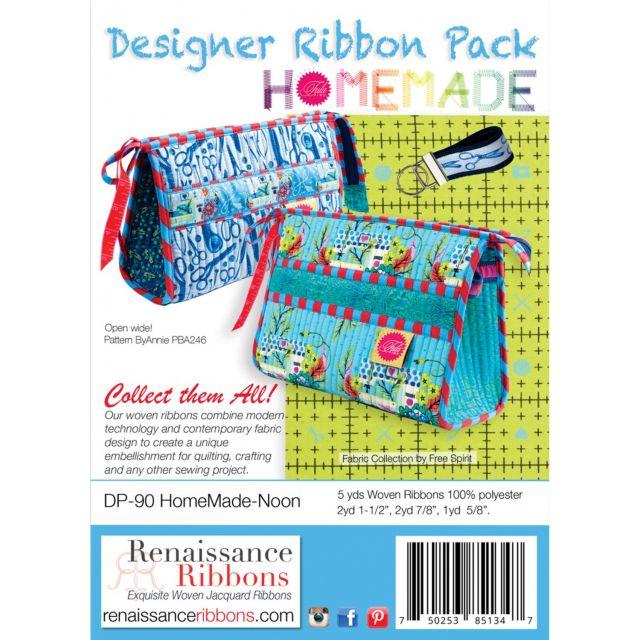 Tula Pink Home Made Noon Designer Ribbon Pack by Renaissance Ribbons - Ribbon