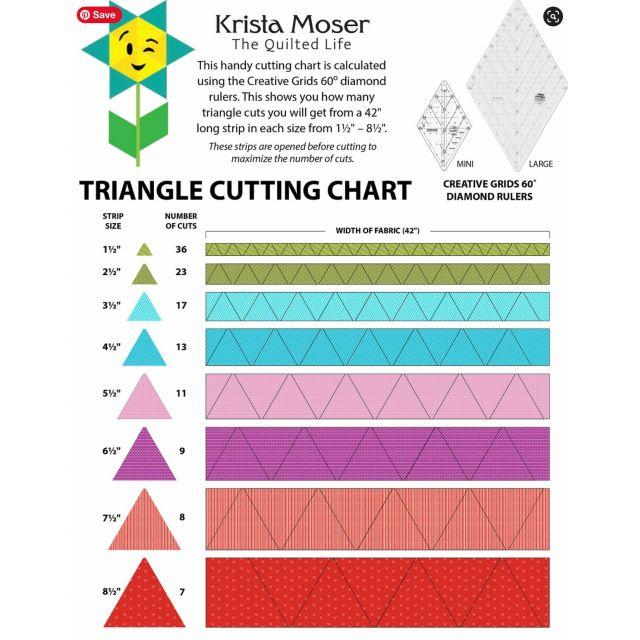 Creative Grids 60 Degree MINI Diamond Ruler by Creative Grids Diamond Rulers - OzQuilts