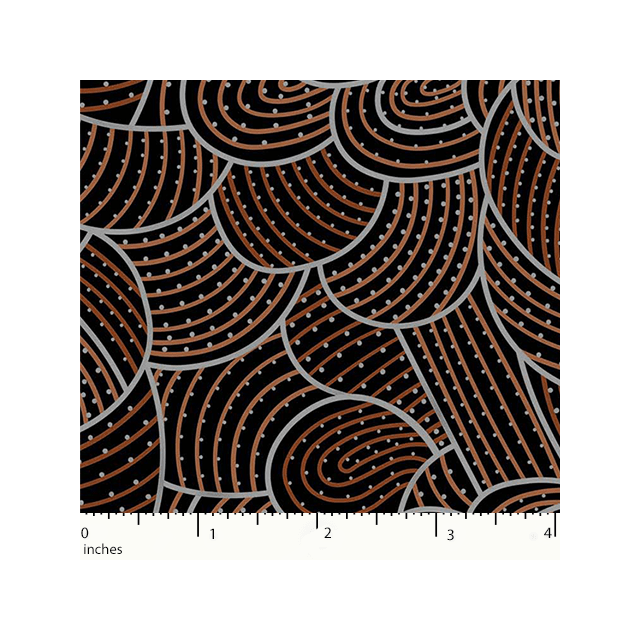 Body Painting 2 Brown Australian Aboriginal Art Fabric by Anna Pitjara by M & S Textiles Cut from the Bolt - OzQuilts