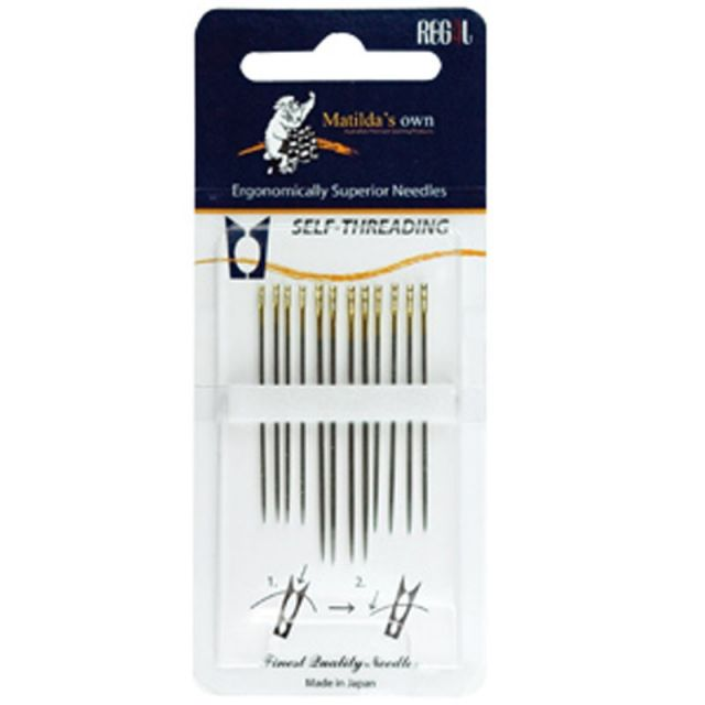 Matildas Own Self-Threading Needles (Pack of 12) by Matilda's Own - Hand Sewing Needles