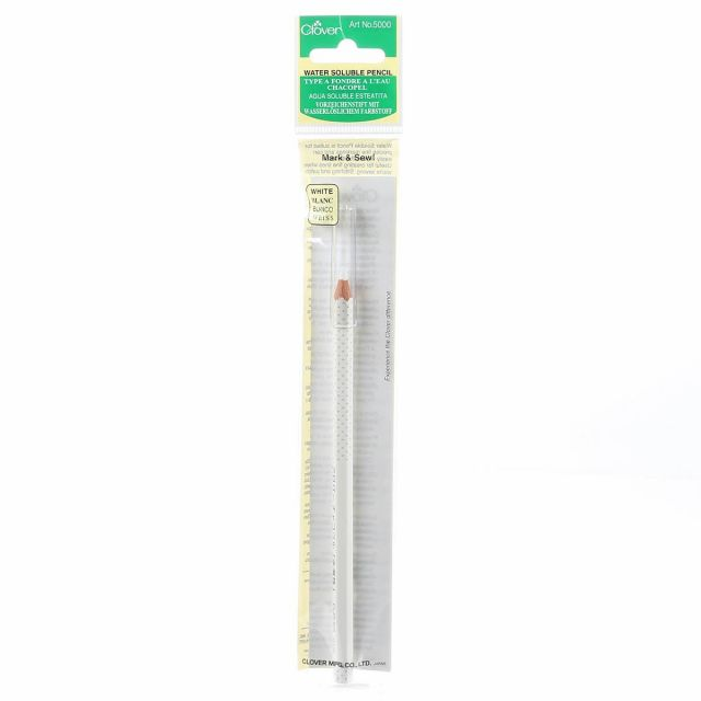 Clover Water Soluble Pencil White by Clover - Water Soluble