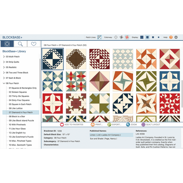 Blockbase Plus Software by Electric Quilt - Electric Quilt