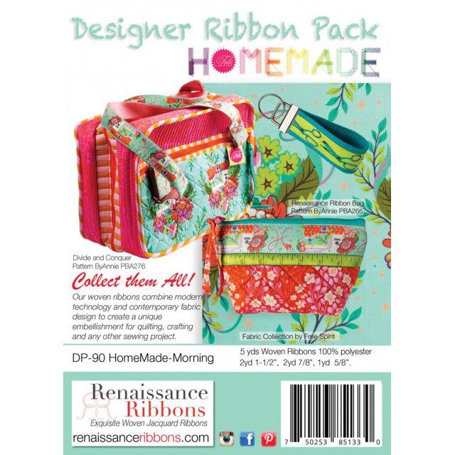 Tula Pink Home Made Morning Designer Ribbon Pack by Renaissance Ribbons - Ribbon