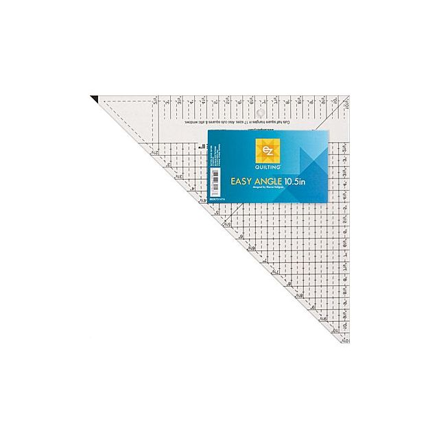 """Easy Angle II Ruler 10.5"""" by EZ Quilting - Triangle Rulers"""