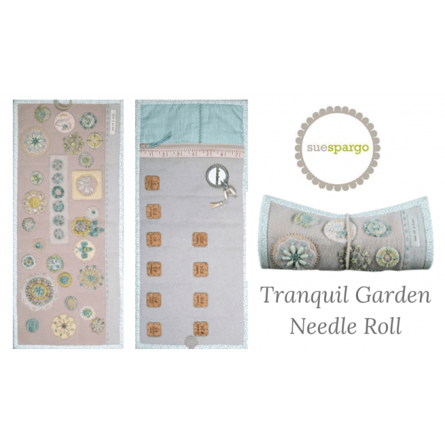 Sue Spargo Tranquil Garden Needle Roll Kit (Includes Pattern) by Sue Spargo - Kits