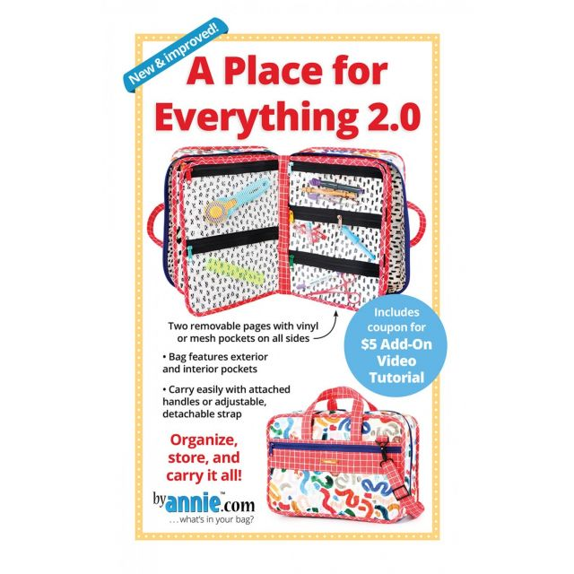 A Place For Everything Bag 2.0 Pattern - By Annie by ByAnnie - Bag Patterns