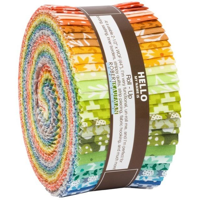 "Paintbox by Elizabeth Hartman 40 strips x 2 ½"" wide by Elizabeth Hartman - 2.5"" Strips"