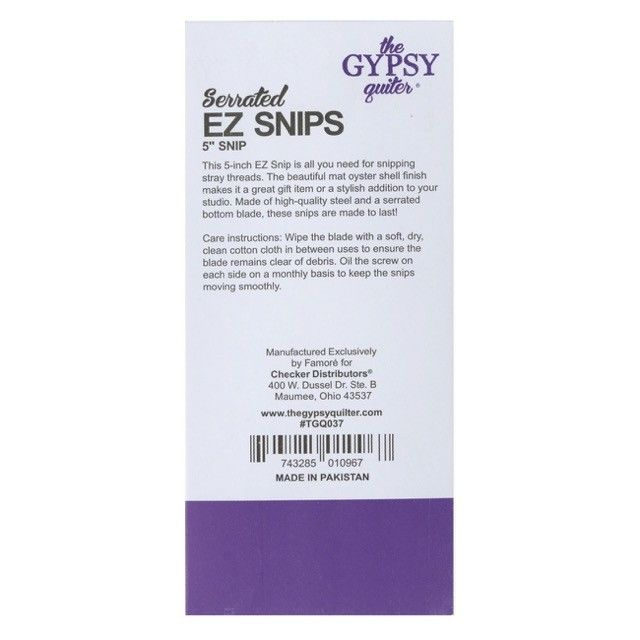 """The Gypsy Quiler Serrated 5"""" EZ Snips with Curved Blade by The Gypsy Quilter - Thread Snips"""