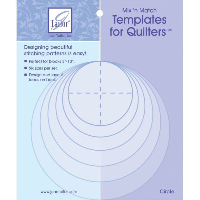 June Tailor Mix 'n Match Templates - Circle by June Tailor - June Tailor Templates