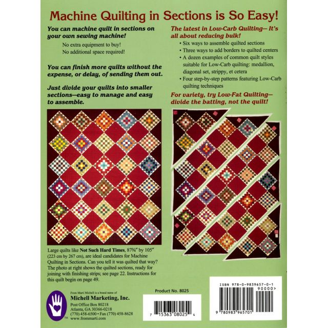 Marti Michell Machine Quilting In Sections by Marti Michell - Martil Michell