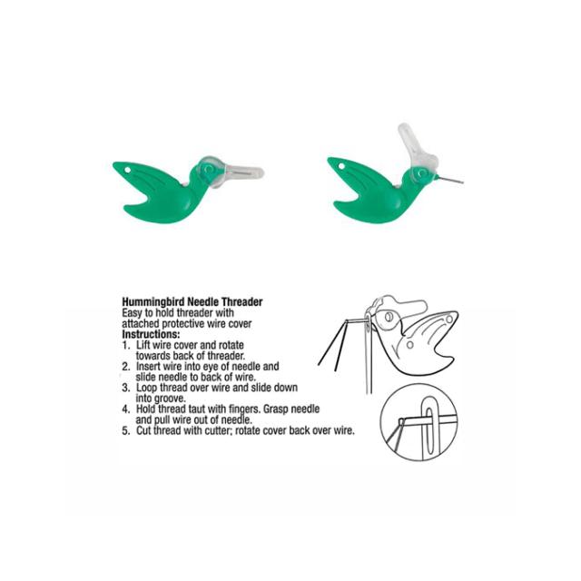 Hummingbird Needle Threader by Dritz - Needle Threaders & Cutters