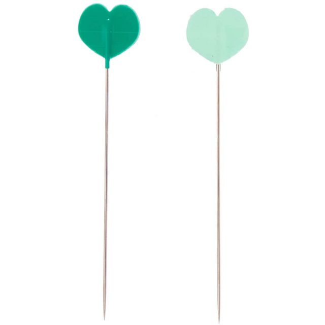 Clover I Sew For Fun Heart Shaped Pins (20) by Clover - Flower Head Pins