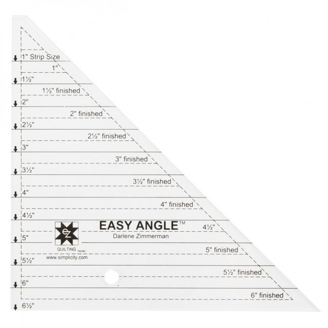 """EZ Quilting Easy Angle 6½"""" Ruler by EZ Quilting - Triangles"""