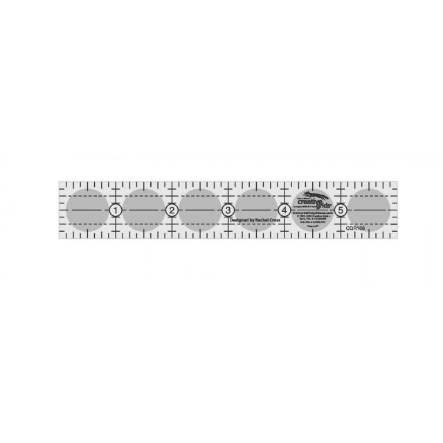 """Creative Grids Ruler 1"""" x 6"""" by Creative Grids - Rectangle Rulers"""