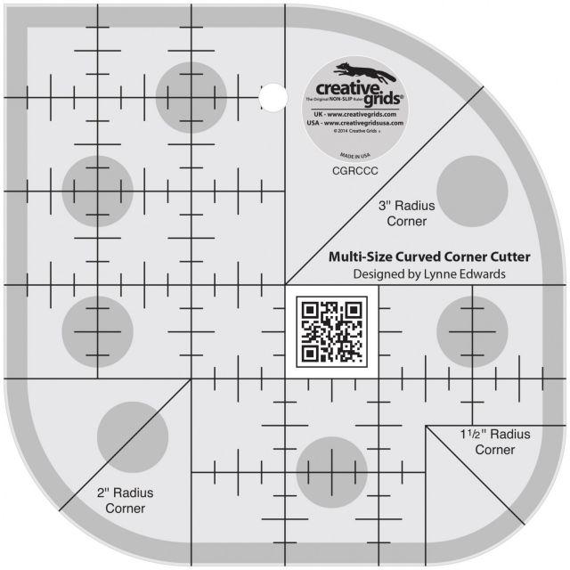 Creative Grids Curved Corner Cutter Ruler by Creative Grids - Scallops, Wave, Curve Rulers