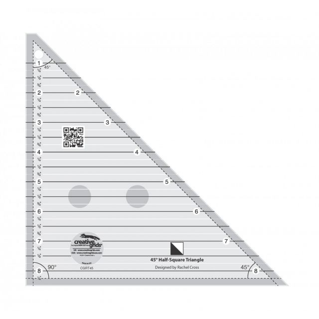 Creative Grids 45 degree Half-Square Triangle Ruler by Creative Grids - Quilt Blocks